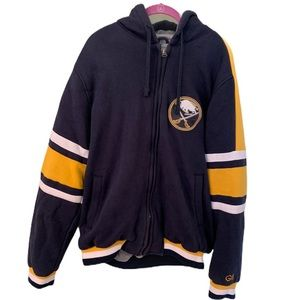 GILL buffalo sabres thick zip up hoodie